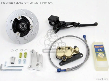 Front Disk Brake Kit (10 Inch) Monkey ?gorilla (mesh Hose & Wi
