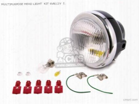 Multipurpose Head Light Kit 6v&12v Instllation Width 155mm/lens