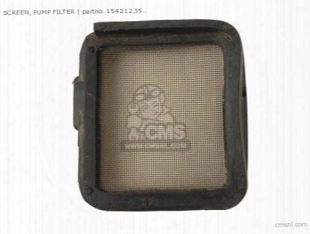Screen, Pump Filter