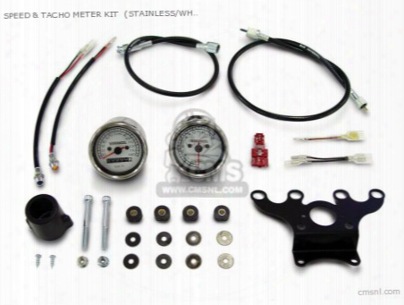 Speed & Tacho Meter Kit (stainless/white ) Monkey Positive St