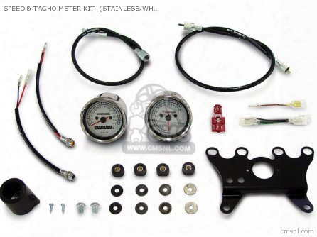 Speed & Tacho Meter Kit (stainless/white ) Monkey Upside-downf