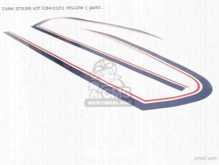 Tank Stripe Kit Cb400f2 Yellow