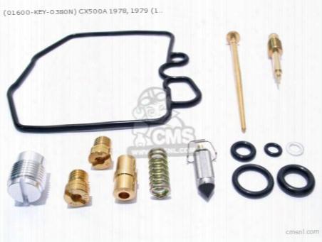 (01600-key-0380nfr) Cx500a 1978, 1979 (16100-415-043) Carb. Repa