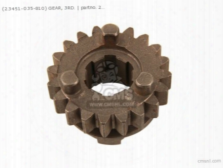 (23451-035-810) Gear, 3rd.