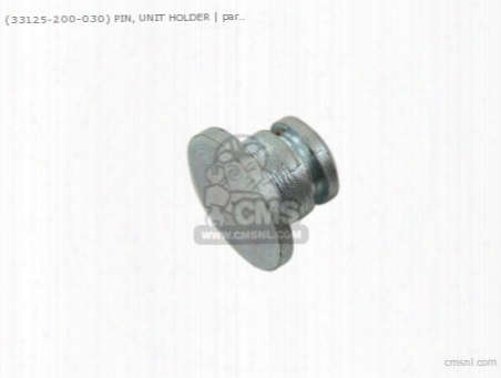 (33125200030) Pin, Unit Holder