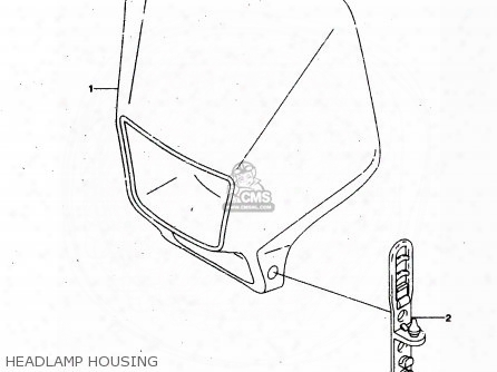(51811-03e00-ne2) Cover, Headlamp (yellow)