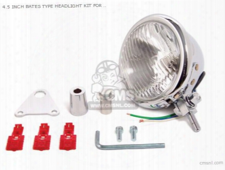 4.5 Inch Bates Type Headlight Kit For Monkey 27mm Fork Only