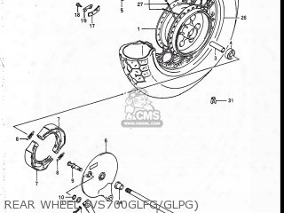 (65320-38a02) Spoke Set,rear Wheel