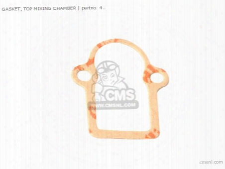 Gasket, Top Mixing Chamber