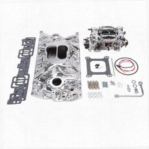 Edelbrock Edelbrock Single-quad Manifold And Carb Kit - 20274 20274 Intake Manifold/carb Kit