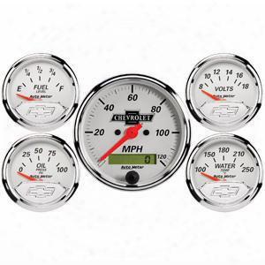 Auto Meter Auto Meter Gm Vintage Street Rod Kit - 1302-00408 1302-00408 Gauge Set