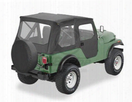 Bestop Tigertop In Black Vinyl 51407-01 - Jeep Soft Tops Cj5