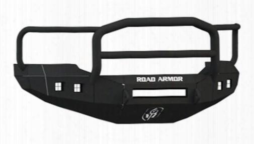 2005 Ford F-350 Super Duty Road Armor Front Stealth Non-winch Illuminator Bumper Lonestar Square Light Port In Satin Black