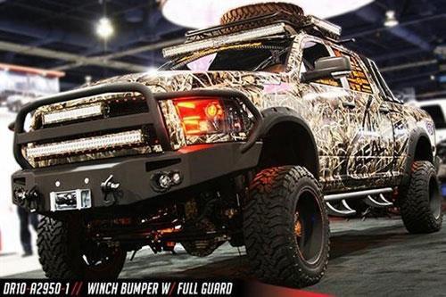 2010 Dodge Ram 3500 Fab Fours Heavy Duty Winch Bumper In Bare Steel