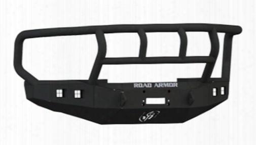 2010 Ford F-450 Super Duty Road Armor Front Stealth Winch Bumper Titan Ii Square Light Port In Satin Black