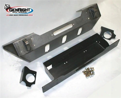 2010 Jeep Wrangler (jk) Genright Stubby Winch Mount Front Bumper