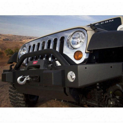 2010 Jeep Wrangler (jk) Jeep Front Off Road Bumper With Winch Mount Grill Guard And Fog Light Holes