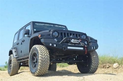 2010 Jeep Wrangler (jk) Road Armor Front Stealth Winch Bumper Pre-runner Square Light Port In Satin Black
