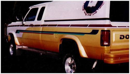 1993 Dodge Ram 50 Pickup Bushwacker Dodge Extend-a-fender Flare Set