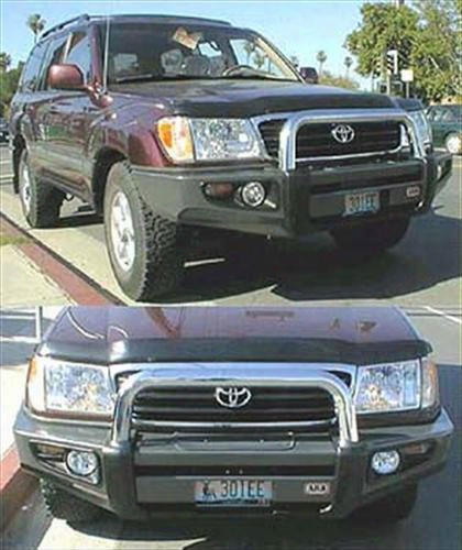 2007 Toyota Land Cruiser Arb 4x4 Accessories Toyota Land Cruiser Sahara Bar Winch Bumper In Grey Powder Coat