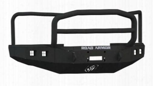 2010 Ford F-450 Super Duty Road Armor Front Stealth Winch Bumper Lonestar Square Light Port In Satin Black