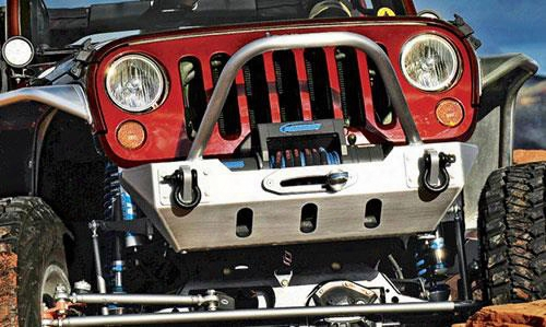 2010 Jeep Wrangler (jk) Genright Front Bumper With Winch Guard