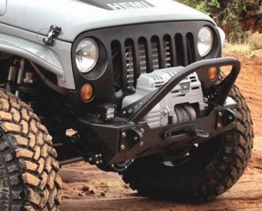 2010 Jeep Wrangler (jjk) Genright Jk Front Steel Bumper With Winch Guard