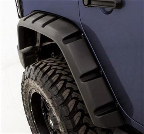 2010 Jeep Wrangler (jk) Rampage Rivet Style Fender Flare Set