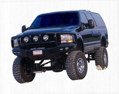 2003 Ford F-350 Super Duty Road Armor Front Stealth Winch Bumper Titan Ii Round Light Port In Satin Black