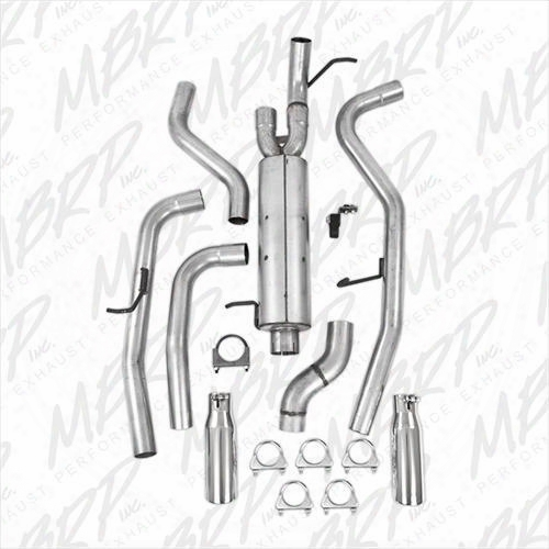 2009 Gmc Canyon Mbrp Installer Series Cat Back Dual Rear Exit Exhaust System