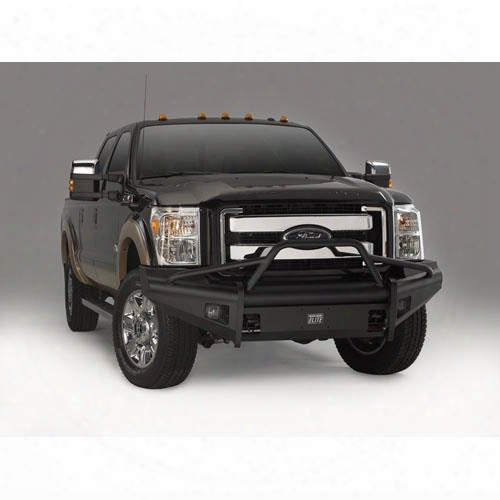 2010 Ford F-150 Fab Fours Pre-runner Front Ranch Bumper With Tow Hooks In Bare Steel