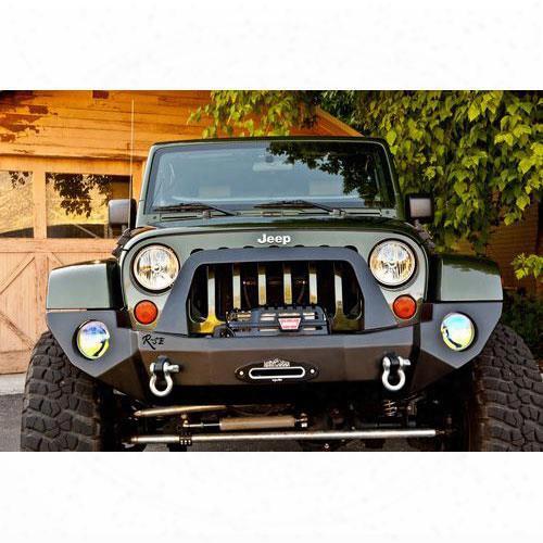 2010 Jeep Wrangler (jk) Rock Slide Engineering R-se Rigid Full Front Bumper With Bullbar