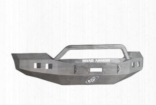 2012 Ford F-450 Super Duty Road Armor Front Stealth Winch Bumper Pre-runner Square Light Port In Raw Steel