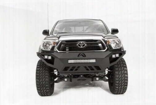 2012 Toyota Tacoma Fab Fours Vengeance Series Bumper In Bare Steel