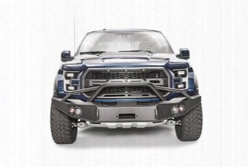 2017 Ford F-150 Fab Fours Winch Bumper With Pre-runner Guard In Black Powder Coat