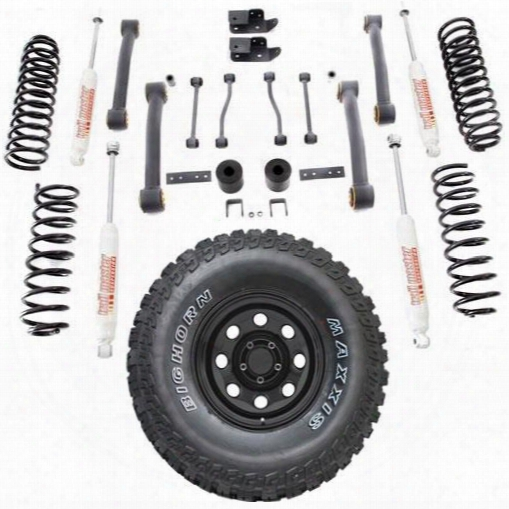 Genuine Packages 4 Inch Trail Master Lift Kit With Maxxis Big Horn Tire And Pro Comp Wheel Package - Set Of 5 - Tjstg233-5 Tjstg233-5 Complete Suspens