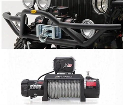 Genuine Packages Smittybilt Src Front Bumper And Winch Package (stainless Steel) - Tjspecial05 Tjspecial05 Front Bumpers