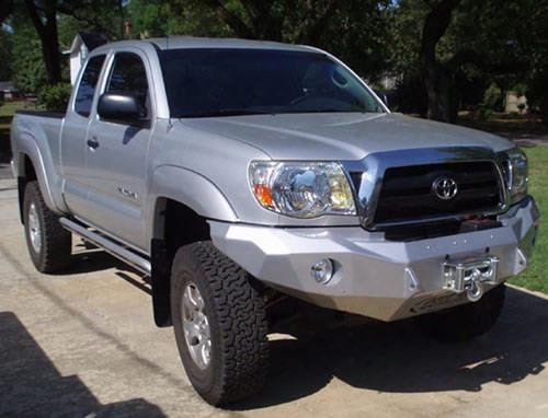 2006 Toyota Tacoma Road Armor Front Stealth Winch Bumper Round Light Port In Satin Black