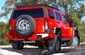 2008 Hummer H3 Arb 4x4 Accessories Hummer H3 Rear Bumper In Black Powder Coat