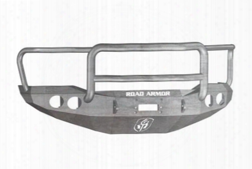 2009 Toyota Tundra Road Armor Front Stealth Winch Bumper Agro Round Light Port In Raw Steel