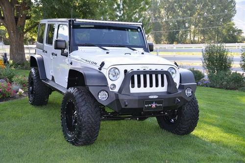 "2010 Jeep Wrangler (jk) Rock Slide Engineering Rigid Front Bumper With Bullbar And 4"" Light Pockets"