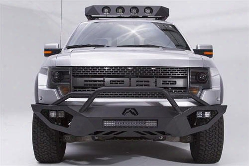 2013 Ford F-150 Fab Fours Vengeance Series Pre-runner Front Bumper In Black Podwer Coat