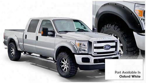 2013 Ford F-250 Super Duty Bushwacker Ford Max Coverage Fender Flare Set In Oxford White