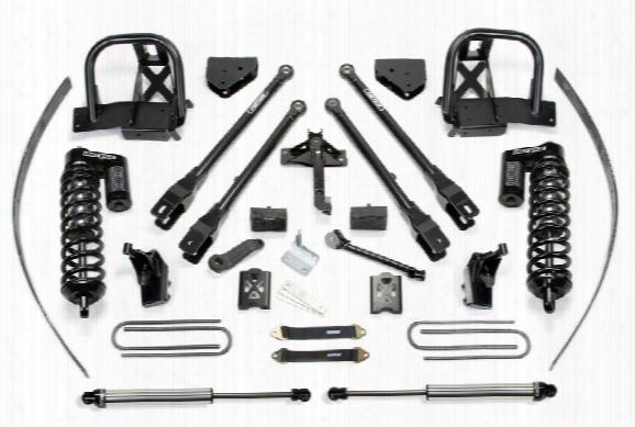 2013 Ford F-250 Super Duty Fabtech 8 Inch 4 Link Lift Kit W/dirt Logic Ss 4.0 Coilovers & Rear Dirt Logic Ss Shocks