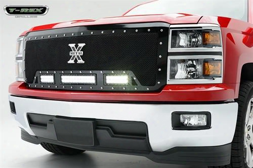 2014 Chevrolet Silverado 1500 T-rex Grilles Torch Series Led Light Grille