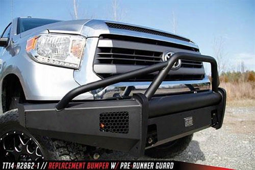 2014 Toyota Tundra Fab Fours Elite Front Bumper With Pre-runner Guard In Black Powder Coat
