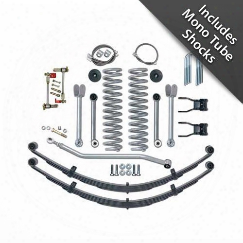 1996 Jeep Cherokee (xj) Rubicon Express 4.5 Inch Super-flex Short Arm Lift Kit With Rear Leaf Springs And Mono Tube Shocks