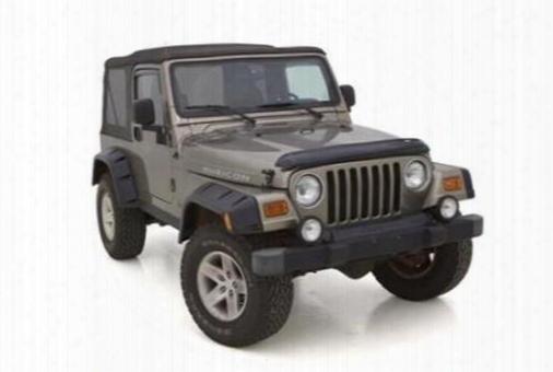 2002 Jeep Wrangler (tj) Rampage Rivet Style Fender Flare Set