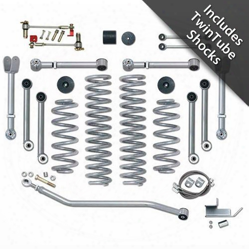 2002 Jeep Wrangler (tj) Rubicon Express 3.5 Inch Super-flex Short Arm Lift Kit With Twin Tube Shocks