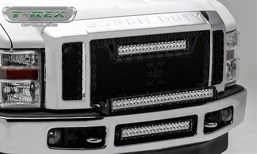 2008 Ford F-550 Super Duty T-rex Grilles T-rex Grilles Torch Series Led Grille (black) - 6315451-br